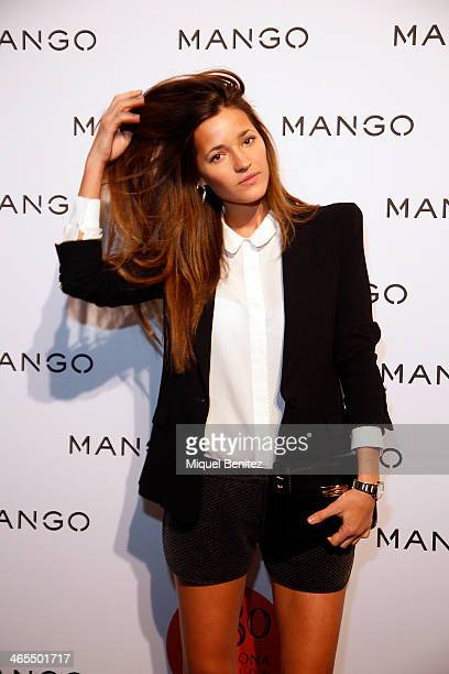 Malena Costa poses during a photocall for the Mango Fashion show held at the Born Centre Cultural on January 27 2014 in Barcelona Spain