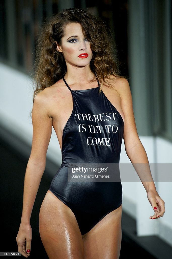 <a gi-track='captionPersonalityLinkClicked' href=/galleries/search?phrase=Malena+Costa&family=editorial&specificpeople=5723369 ng-click='$event.stopPropagation()'>Malena Costa</a> showcases designs by Women'secret on the runway during Women'secret New Collection presentation 20th anniversary at Botanic Garden on November 6, 2013 in Madrid, Spain.