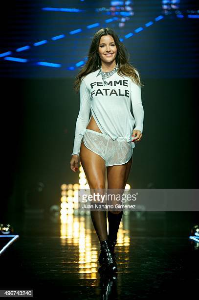 Malena Costa walks on the runway during the presentation of the Women'secret videoclip at La Riviera on November 11 2015 in Madrid Spain