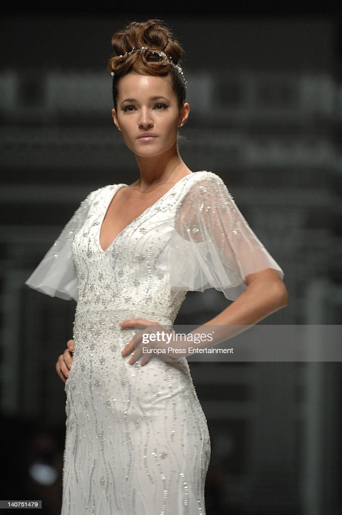 Malena Costa walks the runway during the 'La Sposa' Collection on March 5 2012 in Barcelona Spain