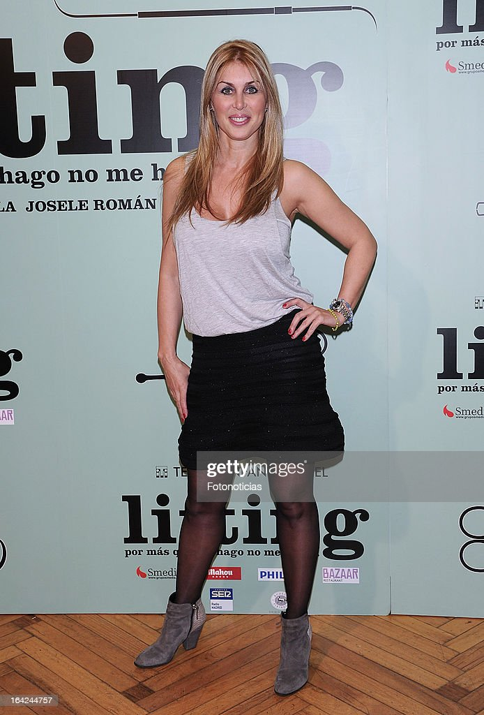 Malena Gracia attends the premiere of 'Lifting' at the Infanta Isabel theatre on March 21, 2013 in Madrid, Spain.