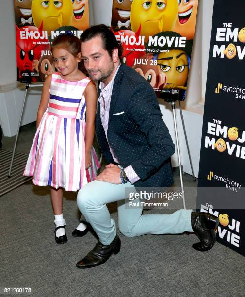 Malena James Reed Maroulis and Constantine Maroulis attend 'The Emoji Movie' Special Screening at NYIT Auditorium on Broadway on July 23 2017 in New...