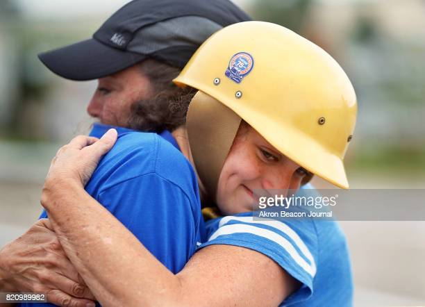 Malena Shipley of North Georgia is embraced by her mom Rebecca Shipley after placing first in the championship Local Masters Heat at the 80th...