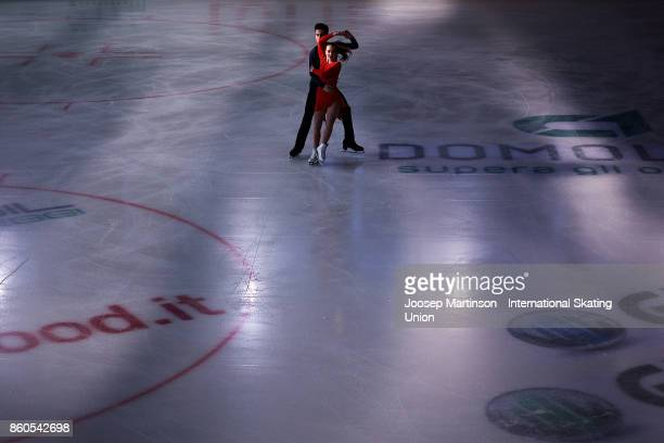 Malene NichitaBasquin and Jaime Garcia of Spain compete in the Junior Ice Dance Short Dance during day one of the ISU Junior Grand Prix of Figure...