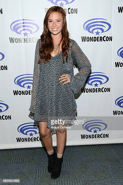 Malese Jow attends the Star Crossed press panel at WonderCon Anaheim 2014 Day 1 at Anaheim Convention Center on April 18 2014 in Anaheim California