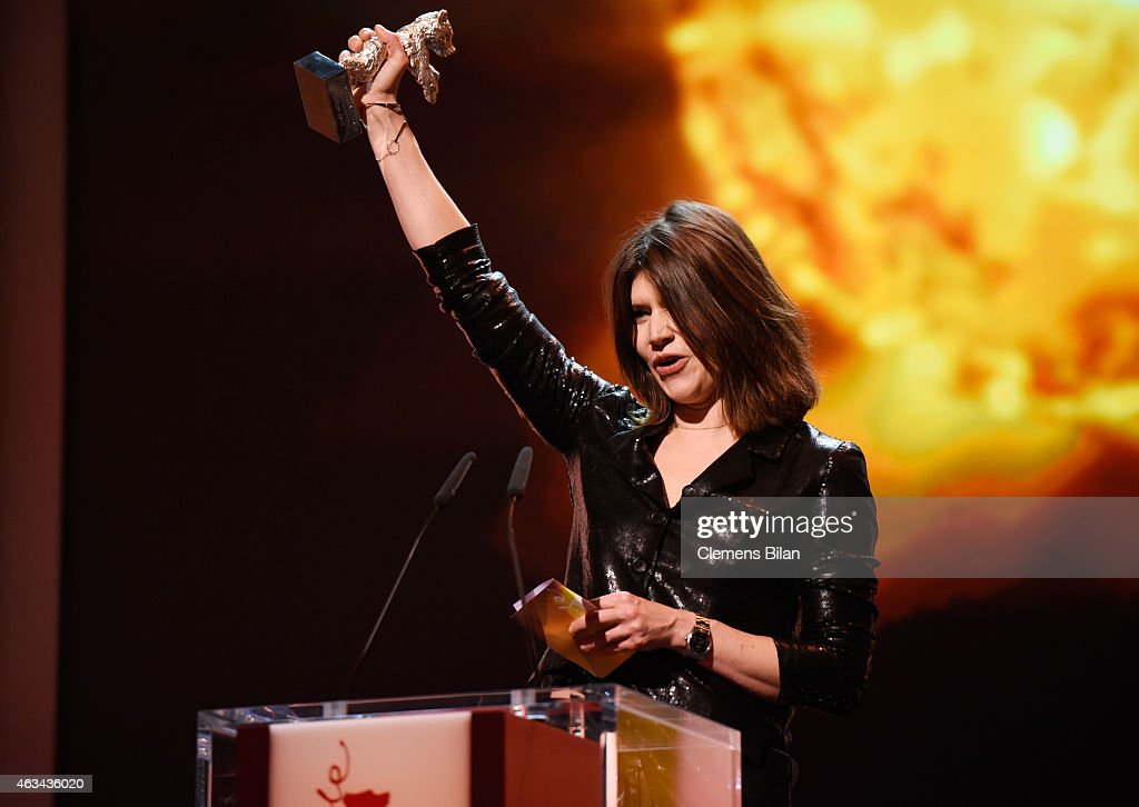 Malgorzata Szumowska accepts the silver bear for the best director for 'Body' on stage during the Closing Ceremony of the 65th Berlinale International Film Festival at Berlinale Palace on February 14, 2015 in Berlin, Germany.