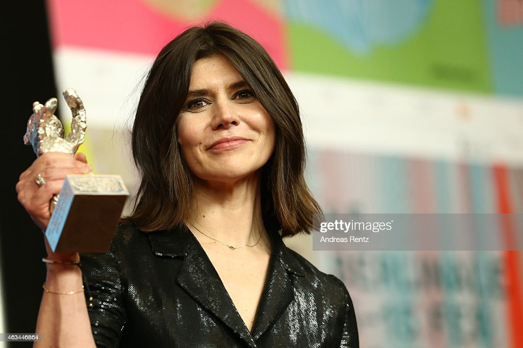 Malgorzata Szumowska is seen with the silver bear for the best director of her movie 'Body' at the Award Winners press conference during the 65th Berlinale International Film Festival at Grand Hyatt Hotel on February 14, 2015 in Berlin, Germany.