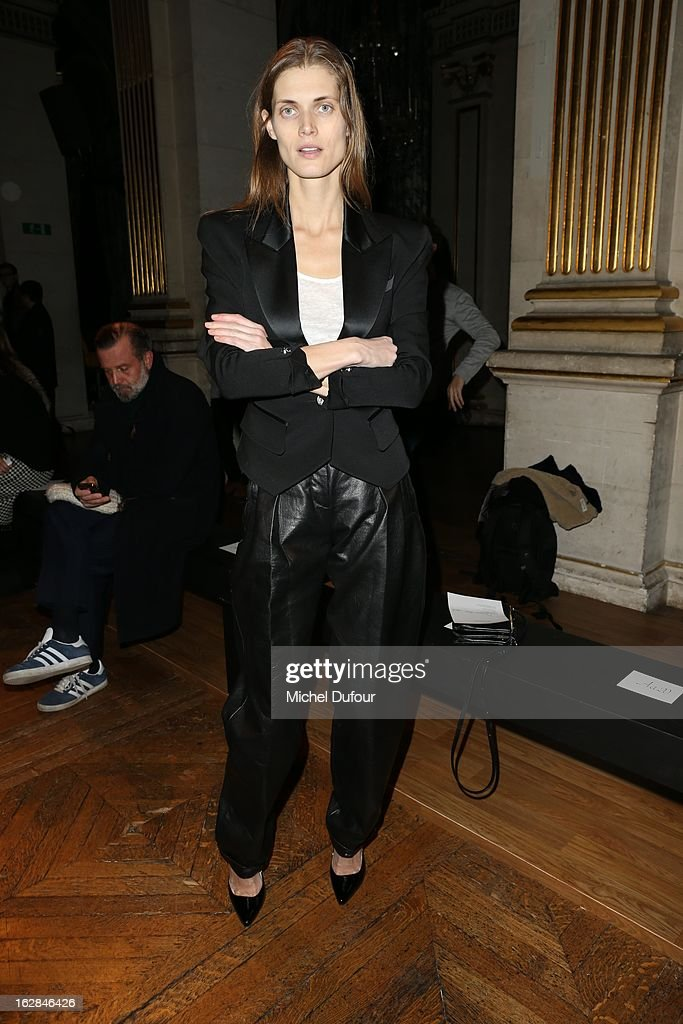 <a gi-track='captionPersonalityLinkClicked' href=/galleries/search?phrase=Malgosia+Bela&family=editorial&specificpeople=2559627 ng-click='$event.stopPropagation()'>Malgosia Bela</a> attends the Balmain Fall/Winter 2013 Ready-to-Wear show as part of Paris Fashion Week on February 28, 2013 in Paris, France.