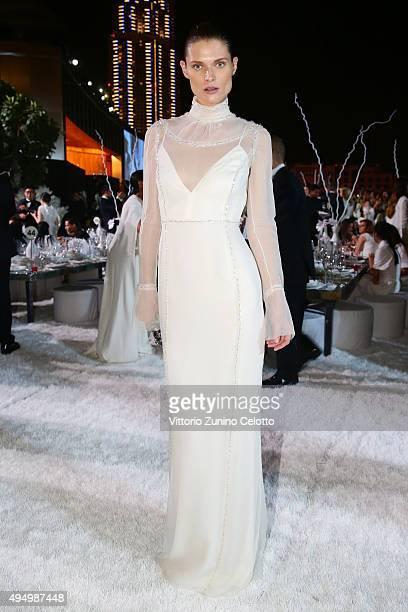 Malgosia Bela attends the Gala event during the Vogue Fashion Dubai Experience 2015 at Armani Hotel Dubai on October 30 2015 in Dubai United Arab...