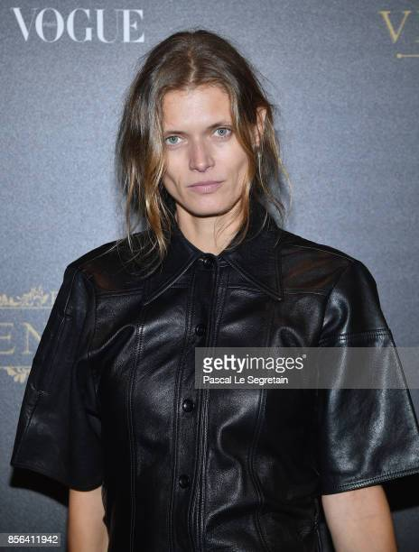 Malgosia Bela attends the Irving Penn Exhibition Private Viewing Hosted by Vogue as part of the Paris Fashion Week Womenswear Spring/Summer 2018 on...