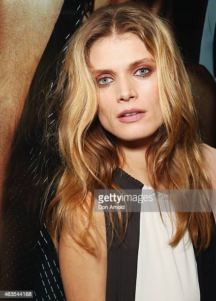 Malgosia Bela attends the opening of Harrolds store on February 16 2015 in Sydney Australia