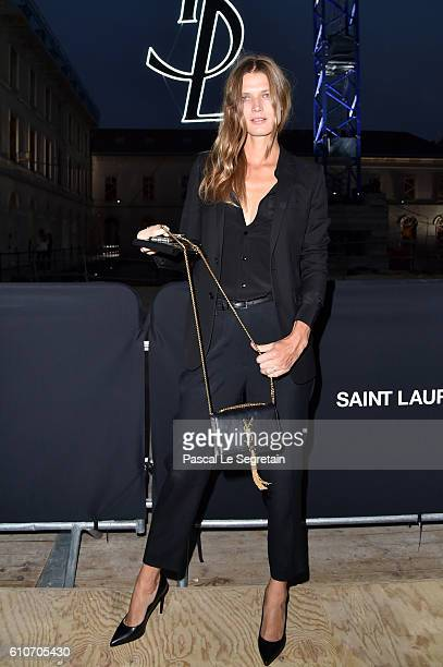 Malgosia Bela attends the Saint Laurent show as part of the Paris Fashion Week Womenswear Spring/Summer 2017 on September 27 2016 in Paris France
