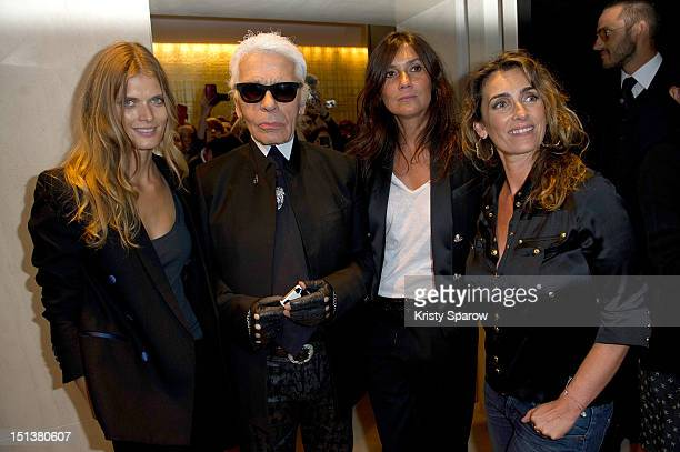 Malgosia Bela Karl Lagerfeld Emmanuelle Alt and Mademoiselle Agnes attend Vogue Fashion Night Out 2012 on September 6 2012 in Paris France