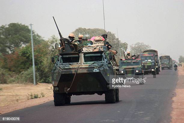 SEGOU Mali A convoy of French military vehicles travels through the suburbs of San southern Mali on Feb 2 en route to the country's north