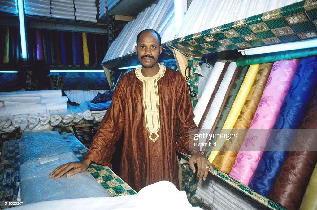 A Wahabitian textiledealer in Bamako