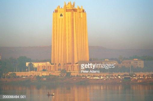Mali, Bamako, Bank of Africa (BCEAO) building : Foto de stock
