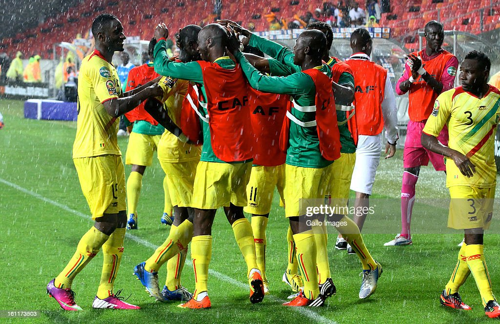 AFRICA - FEBRUARY 09, Mali celebrates second goal during the 2013 Orange African Cup of Nations 3rd and 4th Play-Off match between Mali and Ghana from Nelson Mandela Bay Stadium on February 09, 2013 in Port Elizabeth, South Africa.