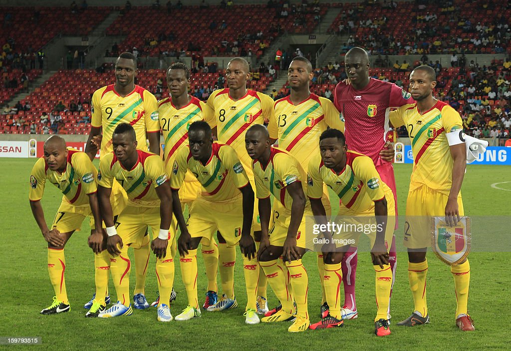 Mali players line up for a team photograph before the 2013 African Cup of Nations match between Mali and Niger at Nelson Mandela Bay Stadium on January 20, 2013 in Port Elizabeth, South Africa.