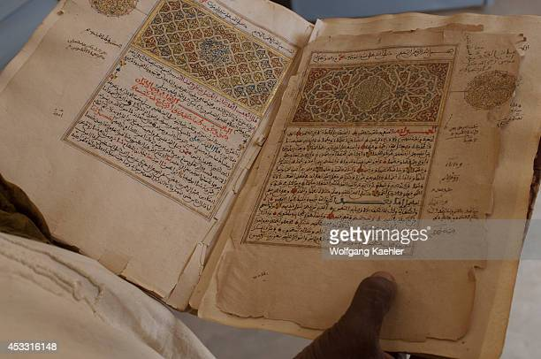 Mali Timbuktu City On The Edge Of The Sahara Desert Ancient Manuscripts In Library Koran