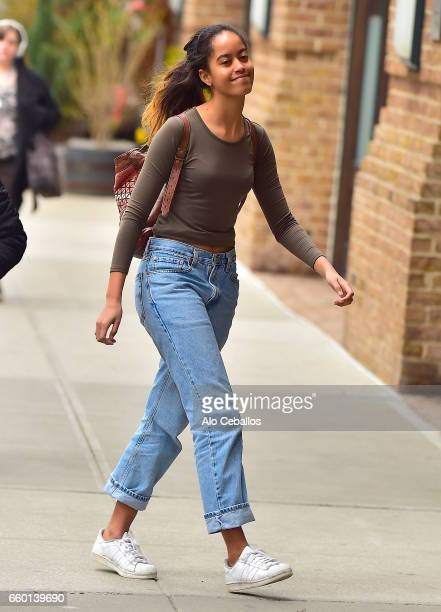 Malia Ann Obama is seen in Tribeca on March 29 2017 in New York City