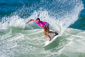 Malia Manuel of the United States surfs during the Round 3 of the Oi Rio Pro on May 16 2015 in Rio de Janeiro Brazil