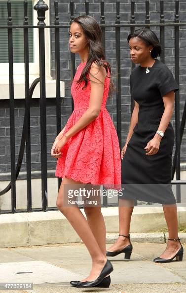 Malia Obama visits 10 Downing Street on June 16 2015 in London England