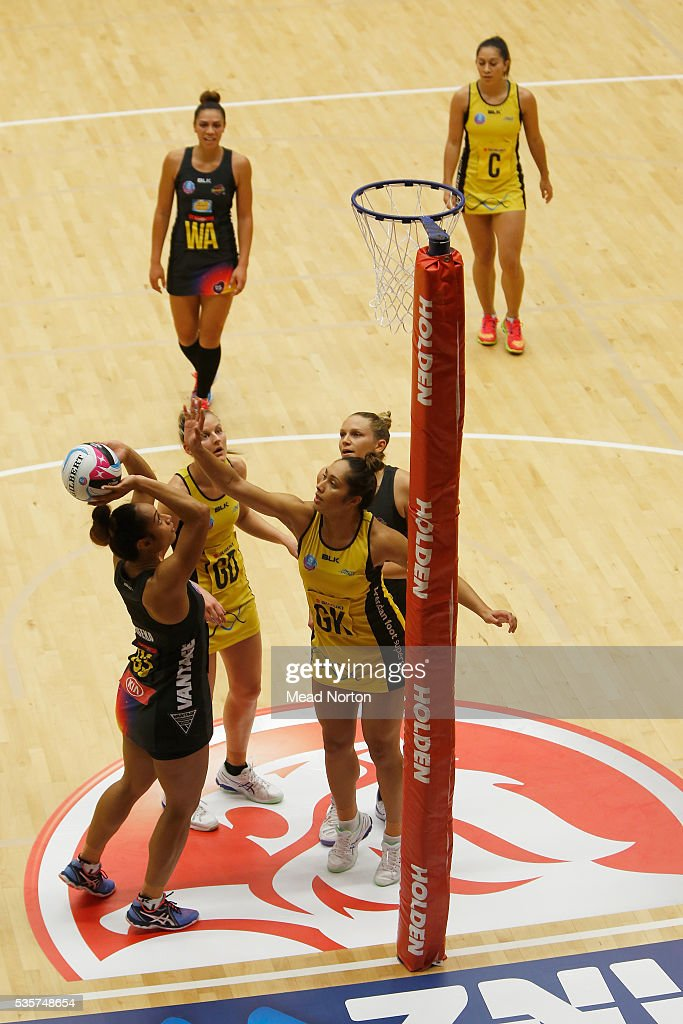 Malia Paseka of the BOP Magic shooting during the round nine ANZ Championship match between the Magic and the Pulse at ASB Baypark Stadium on May 30, 2016 in Mount Maunganui, New Zealand.
