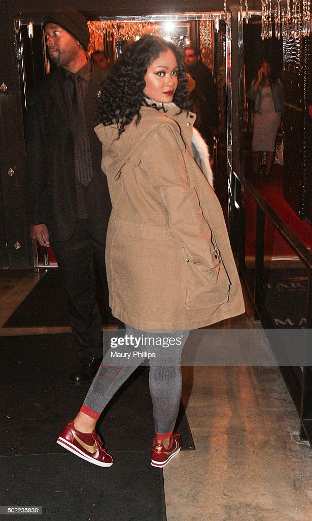 Maliah Michael arrives at Ace of Diamonds Mondays hosted by Spectacular at Ace Of Diamonds on December 21 2015 in West Hollywood California