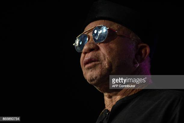 Malian international reknown musician Salif Keita performs at the 20th Standard bank Joy of Jazz festival at the Sandton Convention Center in...