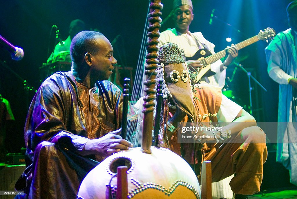 Malian kora player <a gi-track='captionPersonalityLinkClicked' href=/galleries/search?phrase=Toumani+Diabate&family=editorial&specificpeople=828405 ng-click='$event.stopPropagation()'>Toumani Diabate</a> performs at the Paradiso on October 27th 2006 in Amsterdam, Netherlands.