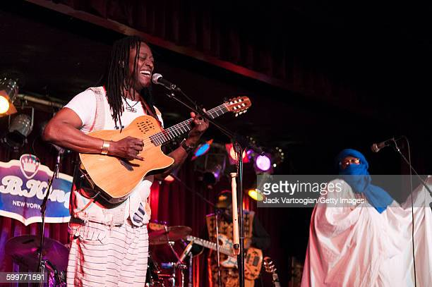Malian musicians Habib Koite and Afel Bocoum perform on the Acoustic Africa Tour at BB King Blues Club Grill in Times Square New York New York April...