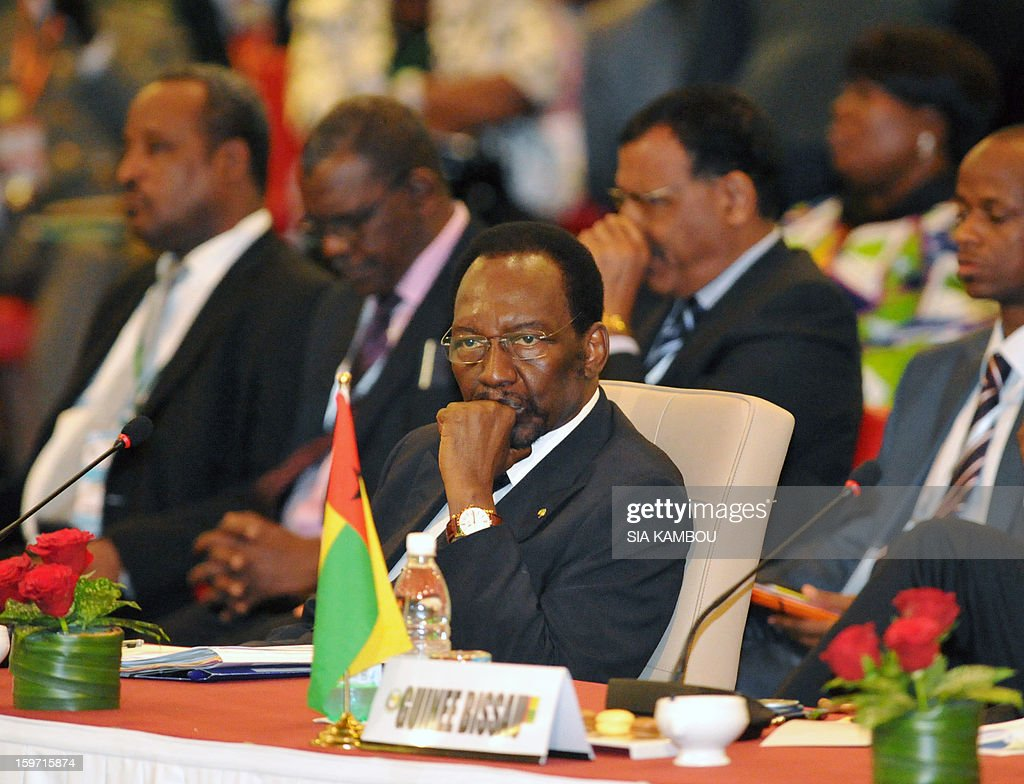 Malian President Dioncounda Traore sits during the opening session of the regional bloc ECOWAS summit on expediting an African force to come to Mali's aid, on January 19, 2013 in Abidjan. Ivorian President and current head of the regional bloc ECOWAS, Alassane Ouattara today called for a broader international commitment to the military operations in Mali, where Malian and French forces are battling Islamist militant groups that control the country's vast arid north.