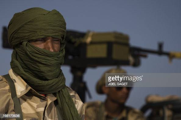 A Malian Special Force soldier takes part on April 9 105 kms north of the northeastern Malian city of Gao in day two of Operation Gustav a hunt for...
