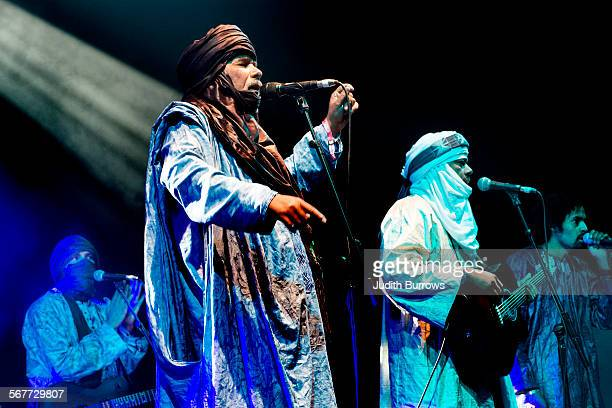 Malian Tuareg musicians Tinariwen perform at the Womad festival at Charlton Park in Wiltshire July 2015