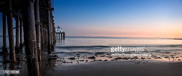 Coucher de soleil sur la plage de Malibu