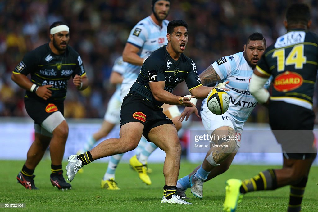 Malietoa Seuli Hingano of La Rochelle during the french Top 14 match between Stade Rochelais and Racing 92 on May 27, 2016 in La Rochelle, France.