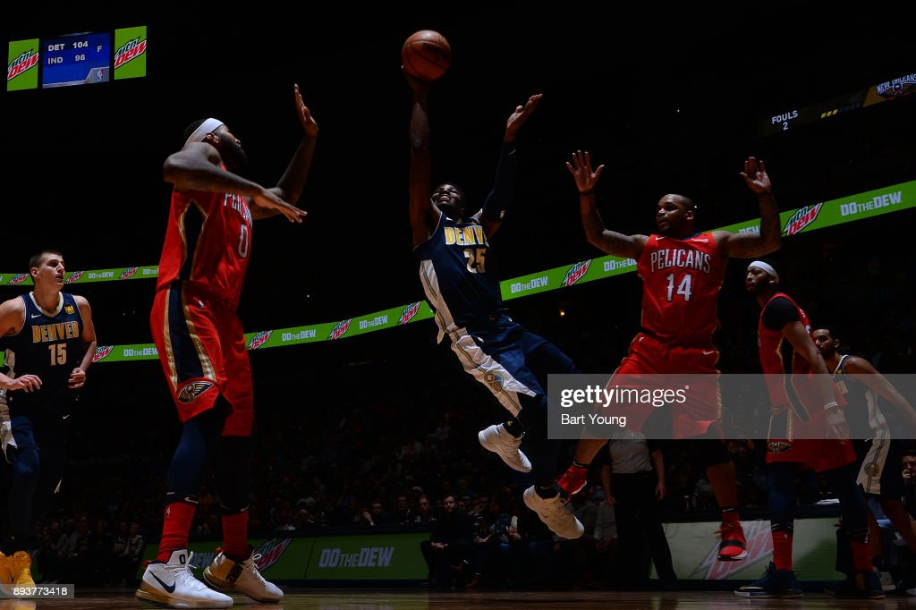 Malik Beasley #25 of the Denver Nuggets shoots the ball against the New Orleans Pelicans on December 15, 2017 at the Pepsi Center in Denver, Colorado.