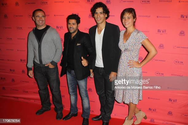 Malik Bentalha Mohamed Hamidi Tewfik Jallab and Julie De Bona attend the 'Ne Quelque Part' Premiere As Part of The Champs Elysees Film Festival 2013...