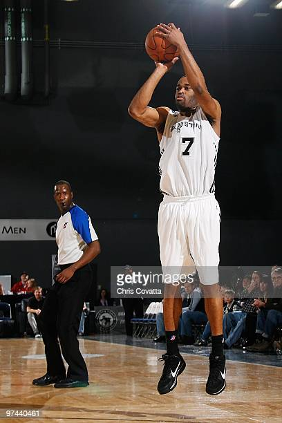 Malik Hairston of the Austin Toros takes a jump shot against the Erie BayHawks during the NBA DLeague game on January 19 2010 at the Austin...