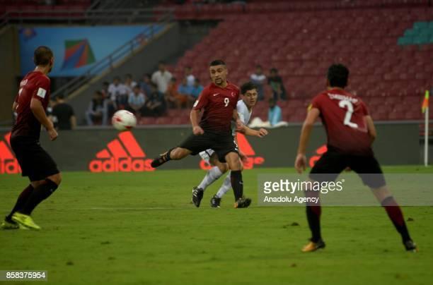 Malik Karaahmet of Turkey U17 in action during the FIFA U17 World Cup India 2017 football match between Turkey U17 and New Zealand U17 in Mumbai...