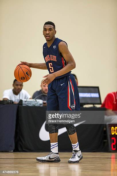 Malik Monk from the Arkansas Wings and Bentonville High School during Session Four of the Nike EYBL on May 23 2015 at Maple Grove Community Gym in...