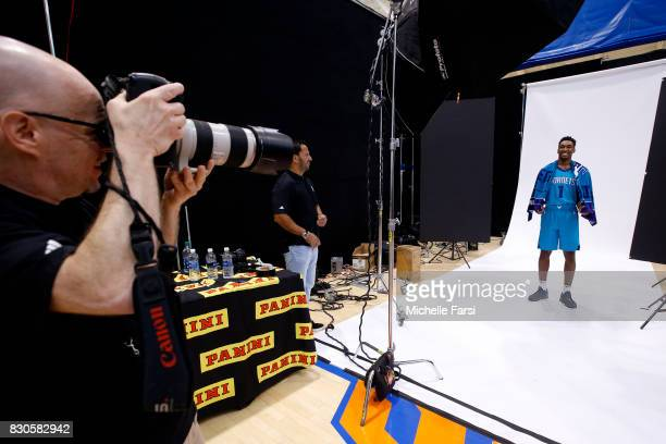 Malik Monk of the Charlotte Hornets behind the scenes during the 2017 NBA Rookie Photo Shoot at MSG training center on August 11 2017 in Tarrytown...