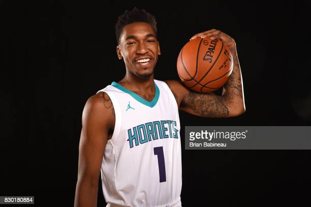 Malik Monk of the Charlotte Hornets poses for a photo during the 2017 NBA Rookie Photo Shoot at MSG training center on August 11 2017 in Tarrytown...