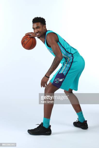 Malik Monk of the Charlotte Hornets poses for a portrait during media day on September 25 2017 at Spectrum Center in Charlotte North Carolina NOTE TO...