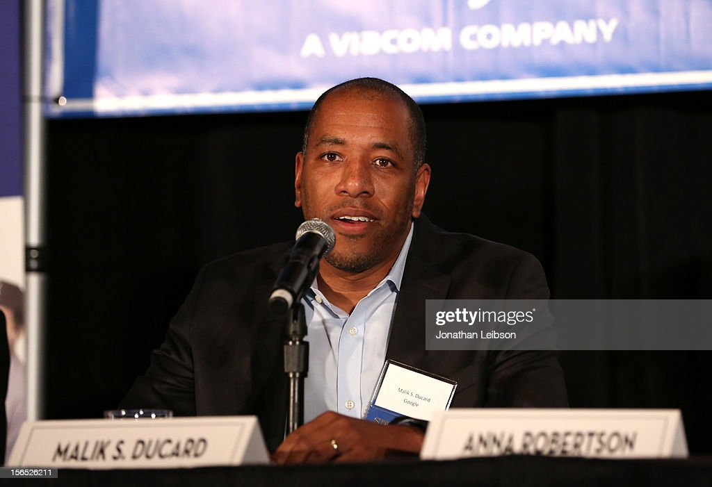 Malik S. Ducard, Content Partnerships Director, Google speaks onstage during the Is Silicon Beach Real for the Entertainment Industry? Panel at Variety's Hollywood Chamber Entertainment Conference 2012 at Loews Hollywood Hotel on November 16, 2012 in Hollywood, California.
