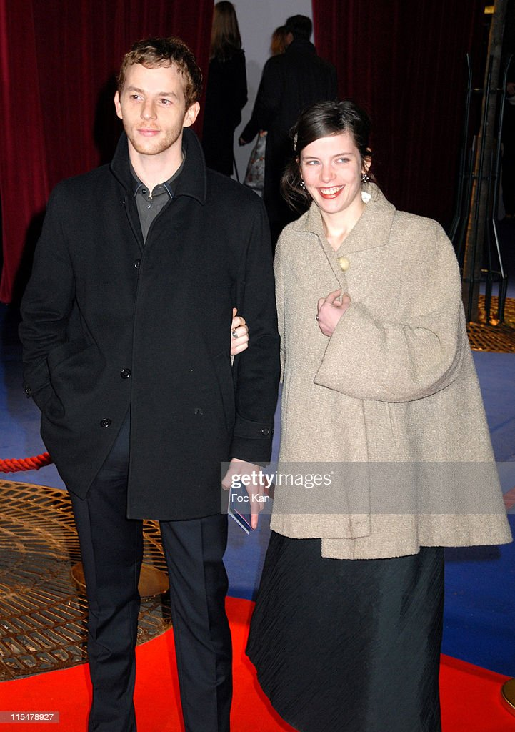 Malik Zidi and A Guest during 32nd Cesar Awards Ceremony Arrivals at Theatre du Chatelet in Paris France
