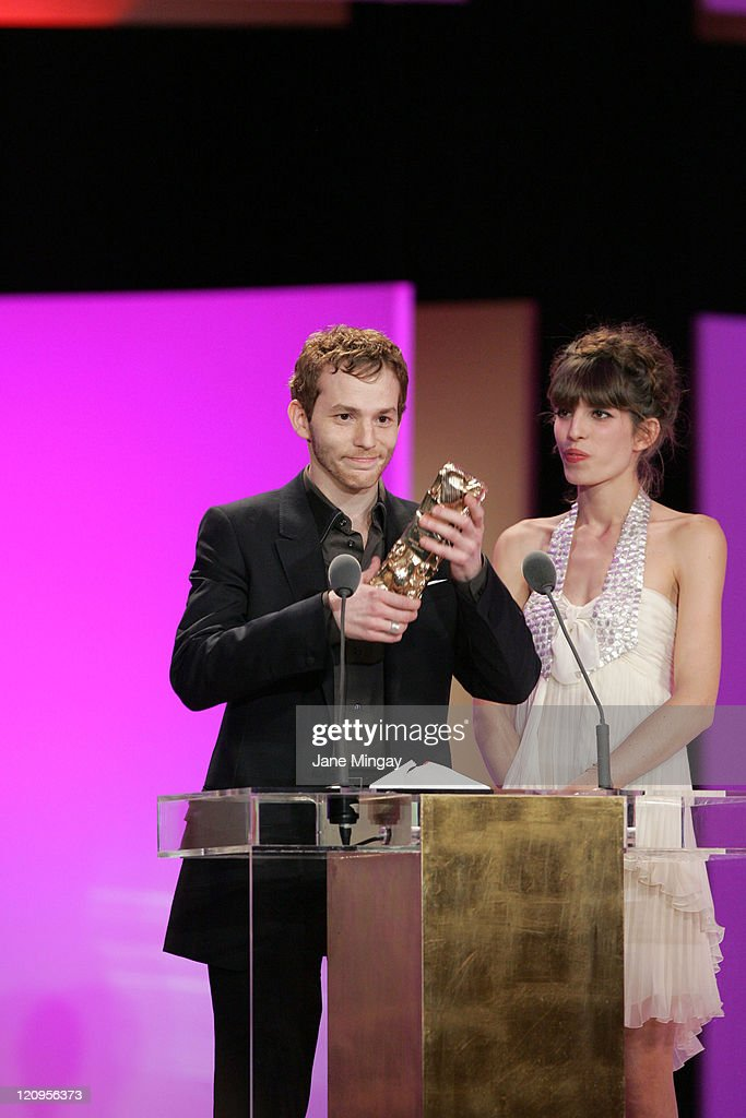 Malik Zidi and Lou Doillon during 32nd Cesar Awards Ceremony The Show at Theatre du Chatelet in Paris France
