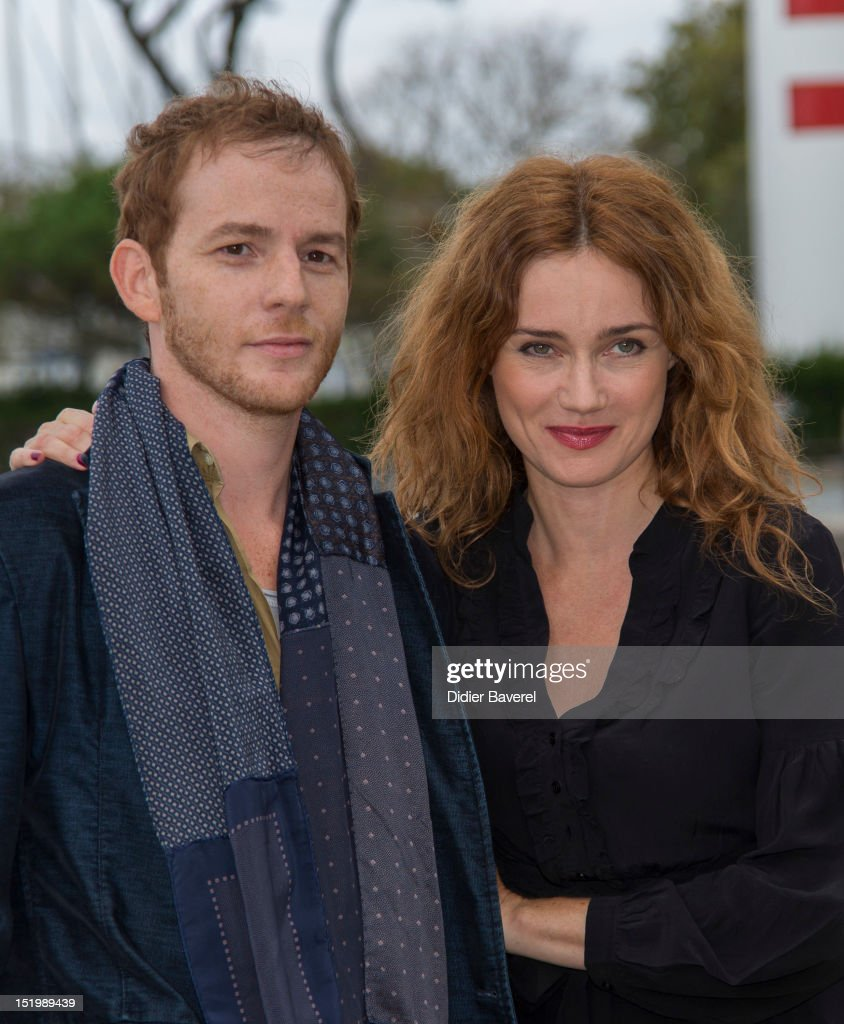 Malik Zidi and Marine Delterme pose during the 'Berthe Morisot' Photocall at La Rochelle Fiction Television Festival on September 14 2012 in La...