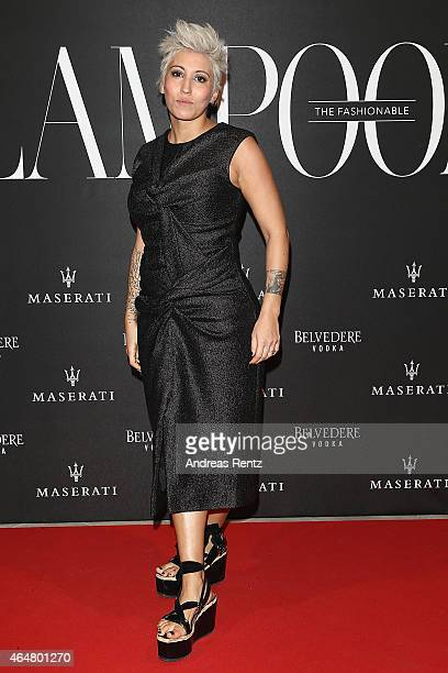 Malika Ayane attend the 'The Misia Ball' Lampoon Launch Party during the Milan Fashion Week Autumn/Winter 2015 on February 28 2015 in Milan Italy