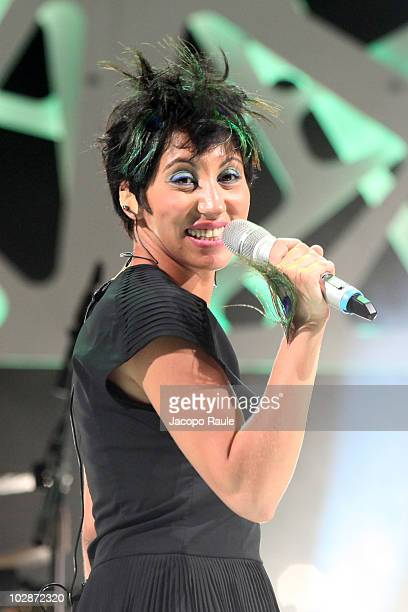 Malika Ayane performs on July 13 2010 in Portofino Italy